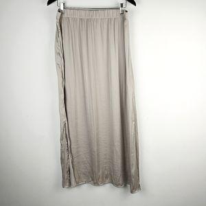 Chico's Beige Lightweight Silky Maxi Skirt